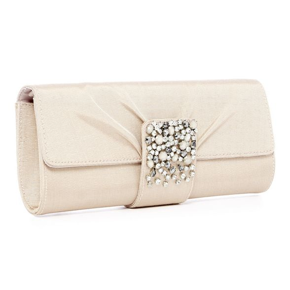 No grosgrain crystal Light gold Jenny 1 bag clutch jewel Packham TnrqTB