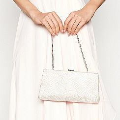 No. 1 Jenny Packham - Natural brocade clutch bag