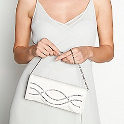 No. 1 Jenny Packham - Ivory baguette bar clutch bag
