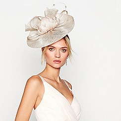No. 1 Jenny Packham - Light gold flower feather fascinator