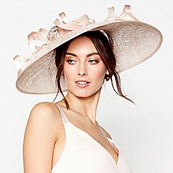 No. 1 Jenny Packham - Light pink embellished loop downbrim fascinator
