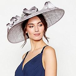 No. 1 Jenny Packham - Grey embellished loop downbrim fascinator