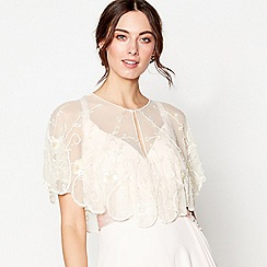 No. 1 Jenny Packham - Ivory floral sequin embellished shrug
