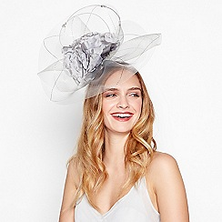 No. 1 Jenny Packham - Silver floral embellished fascinator