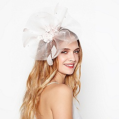 No. 1 Jenny Packham - Light pink lace floral embroidered fascinator