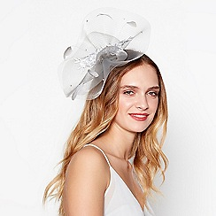 No. 1 Jenny Packham - Grey lace floral embroidered fascinator