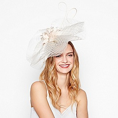 No. 1 Jenny Packham - Natural windowpane floral fascinator