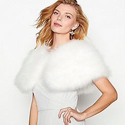 No. 1 Jenny Packham - Ivory feather 'Maribou' shrug
