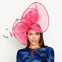 Star by Julien Macdonald - Pink pleated wave feather fascinator