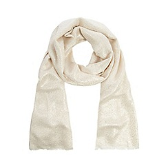 Debut - Cream metallic jacquard pashmina