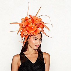 Star by Julien Macdonald - Orange feather diamante detail fascinator