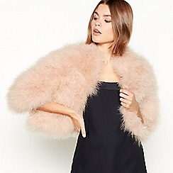 Star by Julien Macdonald - Pink tinsel feather jacket