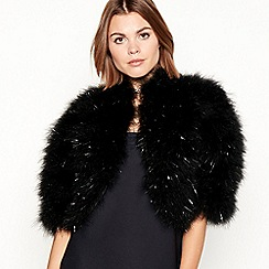 Star by Julien Macdonald - Black tinsel feather jacket