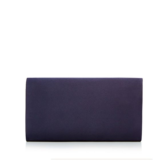 Navy satin bag Debut bow clutch PY4xZq
