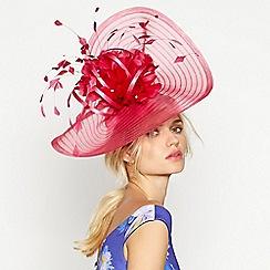 Debut - Pink striped diamante 'Eva' fascinator
