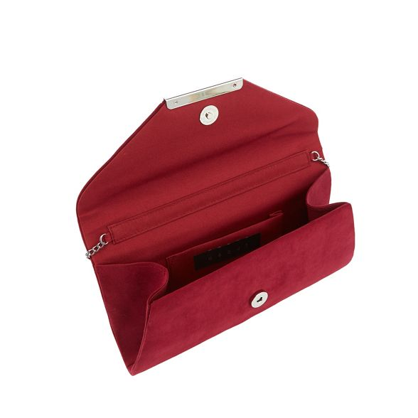 Debut Dark envelope red clutch suedette bag PPwqcpn1rd