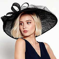 Debut - Black spot overlay saucer fascinator