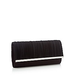 Debut - Black pleated chiffon clutch bag
