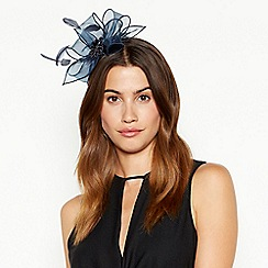 Debut - Navy metallic bow fascinator