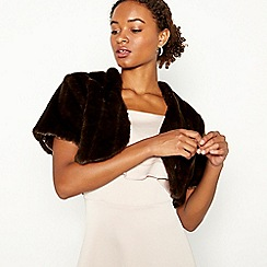Debut - Chocolate Faux Fur Cape