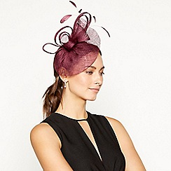 Debut - Dark purple bon bon swoop fascinator