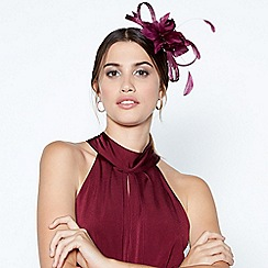 Debut - Dark purple bead loop fascinator