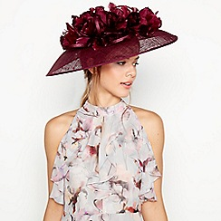 Debut - Dark Purple Feather Tulip Saucer Fascinator