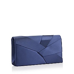 Debut - Navy origami satin clutch bag