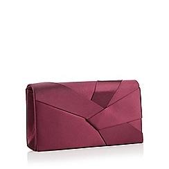 Debut - Purple origami satin clutch bag