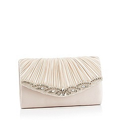 No. 1 Jenny Packham - Navy satin diamante embellished 'Mairee' clutch bag