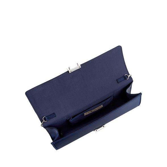 Navy diamante clutch bag 1 strap satin Packham Jenny No patZqz6