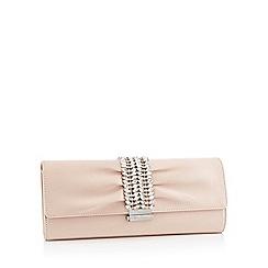 No. 1 Jenny Packham - Natural satin diamante strap clutch bag