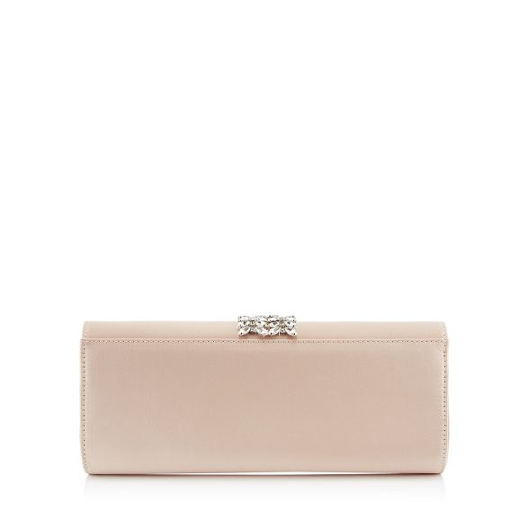 Jenny clutch diamante bag 1 strap satin No Packham Natural SFn0xH