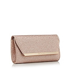 No. 1 Jenny Packham - Rose gold glitter clutch bag