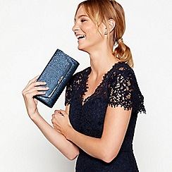 No. 1 Jenny Packham - Navy glitter clutch bag