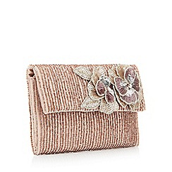No. 1 Jenny Packham - Pink flower cluster clutch bag