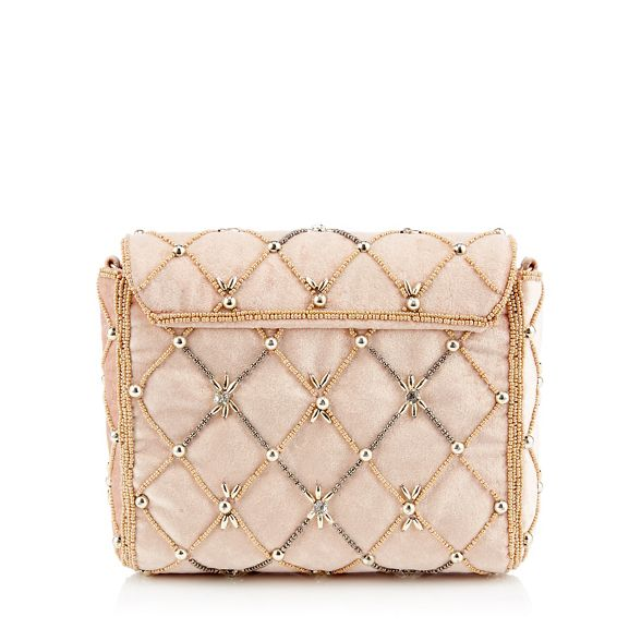 Packham Light pink Jenny bag embellished No clutch 1 velvet tqw7Epp1