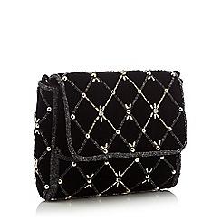 No. 1 Jenny Packham - Black embellished diamond velvet bag