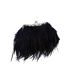 No. 1 Jenny Packham - Navy feather frame clutch bag
