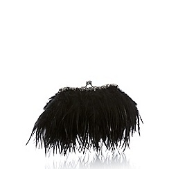 No. 1 Jenny Packham - Black feather frame clutch bag