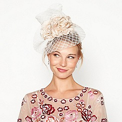 No. 1 Jenny Packham - Natural mini floral windowpane fascinator