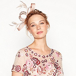 No. 1 Jenny Packham - Light pink diamante loop bow fascinator