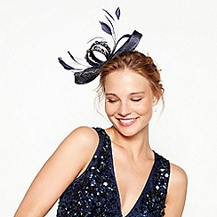 No. 1 Jenny Packham - Navy diamante loop bow fascinator