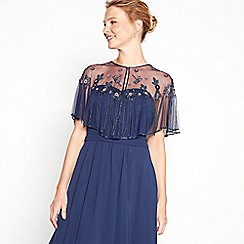 No. 1 Jenny Packham - Navy floral sequin embellished V-neck shrug