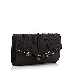 No. 1 Jenny Packham - Black 'Mariee' embellished clutch bag