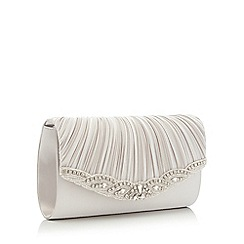 No. 1 Jenny Packham - Silver 'Mariee' embellished clutch bag