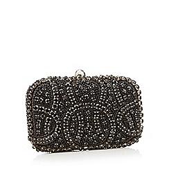 No. 1 Jenny Packham - Black embellished box clutch bag