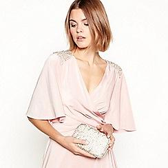 No. 1 Jenny Packham - Cream embellished box clutch bag