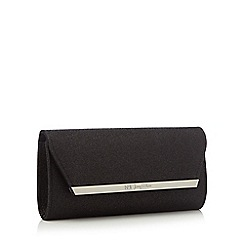 No. 1 Jenny Packham - Black glitter clutch bag