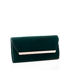 No. 1 Jenny Packham - Green velvet clutch bag